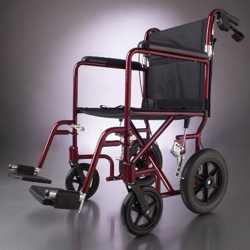 (Deluxe Aluminum Transport Wheelchair (19in red))
