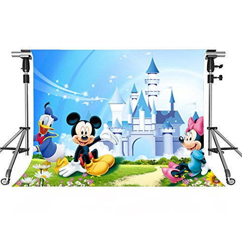 Mickey Mouse Background - MEETS 10x7ft Disneyland Backdrop Donald Duck Mickey Mouse Photography Background Themed Party Photo Booth YouTube Backdrop HUIMT334