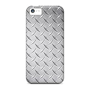 Awesome Diamond Plate Texture Flip Case With Fashion Design For Iphone 4/4s