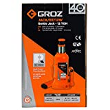 GROZ 4-Ton Hydraulic Bottle Jack | Load Limiting