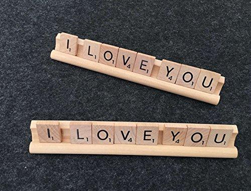 Scrabble Tile Art, I Love You, Desk Name Holder or Plaque