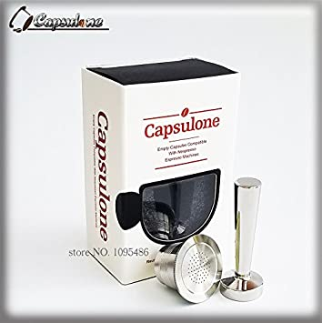 capsulone recargable cápsula de acero inoxidable compatible con Máquina de cápsulas de café Nespresso: Amazon.es: Hogar