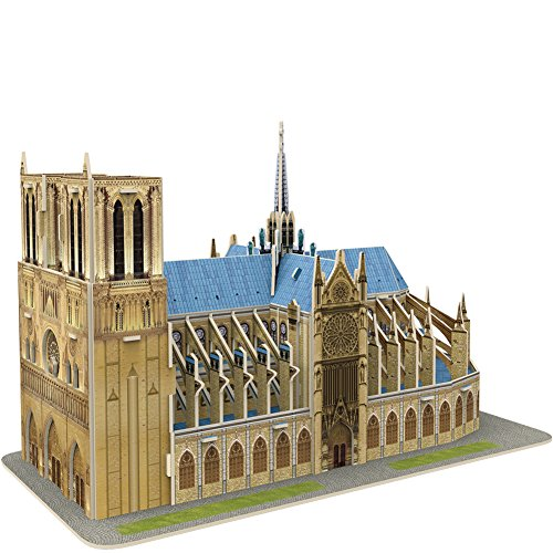 CubicFun 3D French Puzzles Small Cathedral Architecture Paris Building Paper Model Craft Kits Toys for Adults and Teens, Notre Dame de Paris, 27 Pieces
