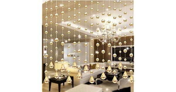 Amazon.com: Lemoning - 1 cortina de cuentas de cristal de ...