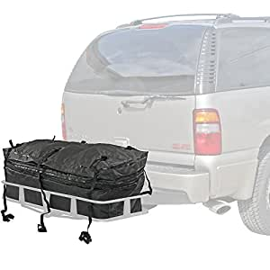 Rage Powersports CSBG-48 48' Waterproof Hitch Cargo Carrier Rack Bag with Expandable Height