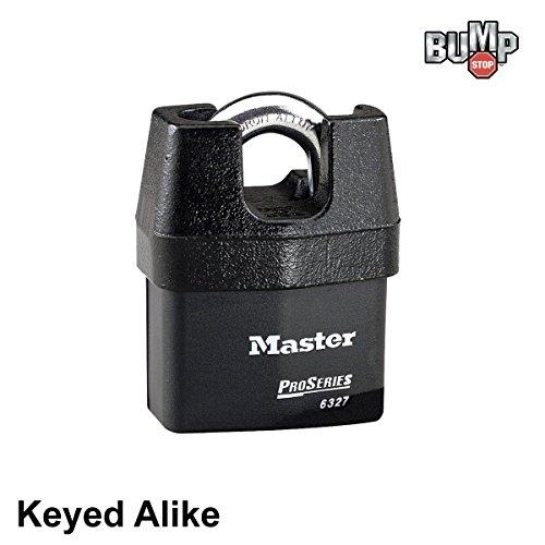 - Master Lock Pro Series - High Security Keyed Alike Padlock 6327NKA - w/ BumpStop Technology