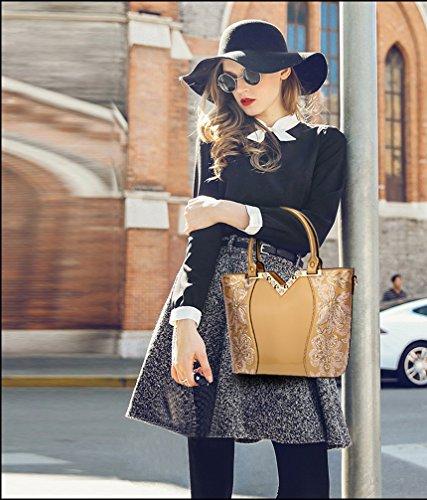 Grand Marée Mode Sac PU Or Sac Besace à Femme Cuir Sac Main Cabas Tisdaini bandoulière décontractés à Sac Aq7wUZdp