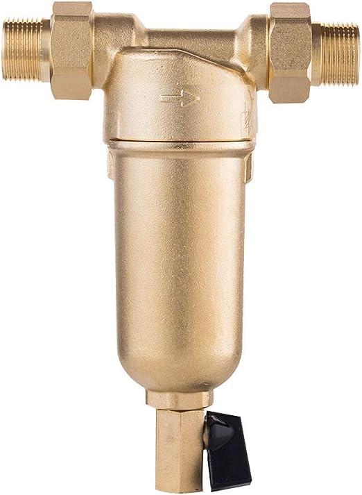 purely life todo el Cobre fuselaje sifón de retrolavado del Filtro de Agua pre-Filtro del Sistema purificador del Cuerpo de Bronce, Acero Inoxidable de Malla de Filtro 1