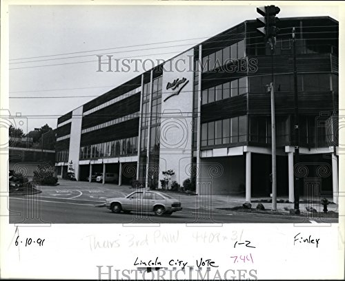 1981 Press Photo Lincoln Square Shopping Complex in Lincoln City - Lincoln City Of Oregon Pictures