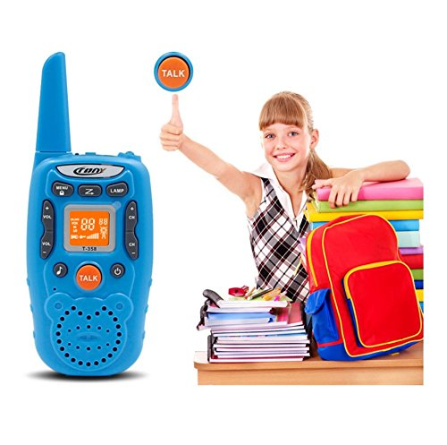Eoncore T358 Walkie Talkies for Kids Two Ways Radio Toy Long Range 22 Channels 10 Call Tone Build-in Flashlight Blue by Eoncore (Image #4)