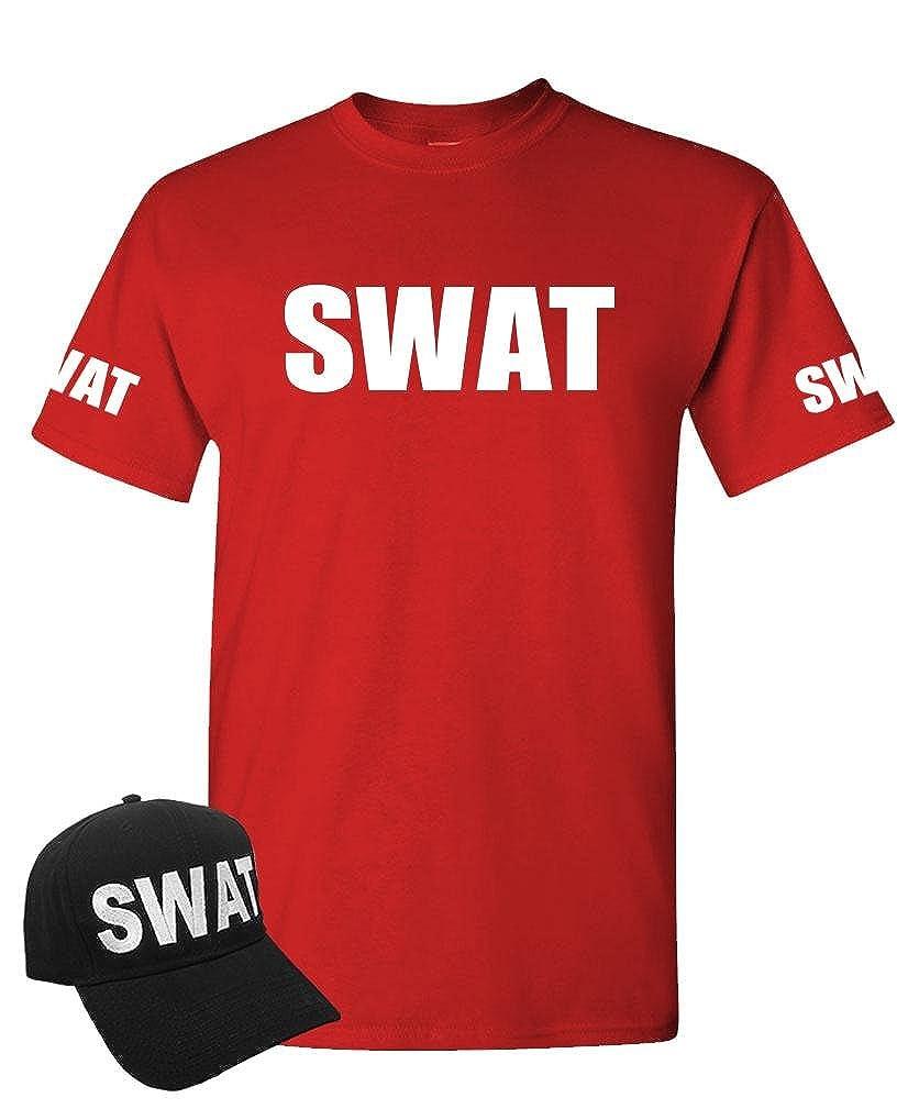 amazon com swat law enforcement police cop duty t shirt hat