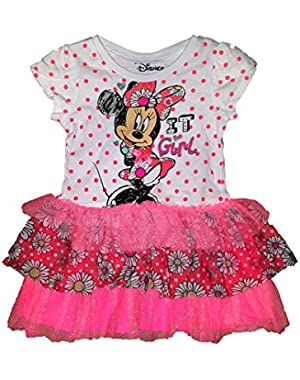 Baby Minnie Mouse It Girl Dress With Flounce