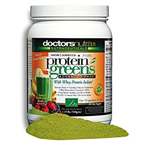 PH50 Protein Greens Drink with Certified Organic Ingredients, 1.19 lbs (540 grams) 50+ First Quality Superfoods + Probiotics, Digestive Enzymes, Amazing Natural Vanilla Flavor Powder