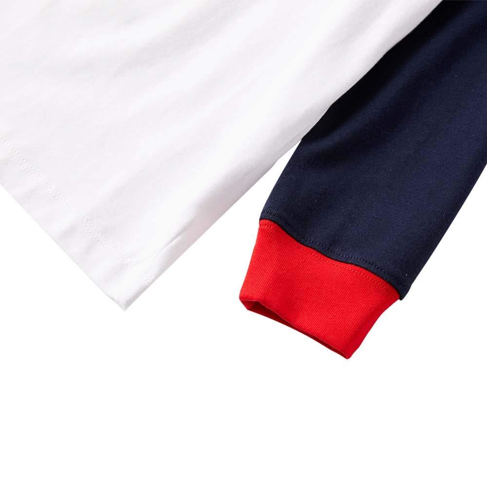 Family Pajamas Sets Reindeer Print Long Sleeve Tops Snowman Santa Long Pants Christmas Matching PJs Sleepwear