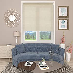 Blinds2Curtains Polyester Magnolia 250 cm x 197 cm Abigail Textured Roller Blind