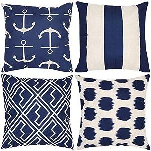 51xT0BxibOL._SS300_ 100+ Nautical Pillows & Nautical Pillow Covers