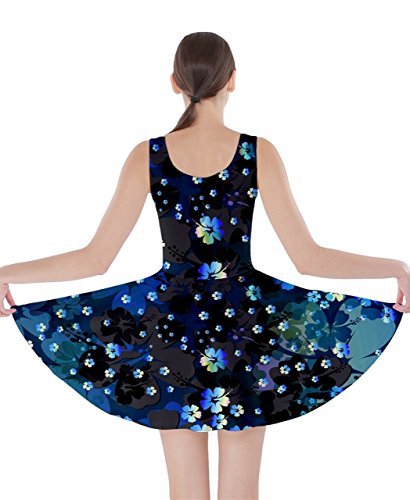 CowCow - Vestido - para mujer Azul Blue Hawaii XX-Large