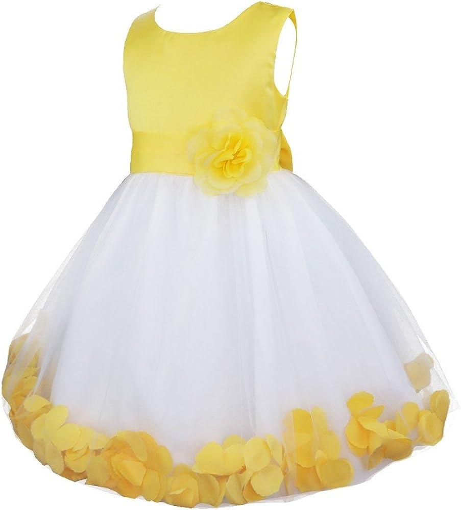 IEFIEL Vestido de Flores Blanco Niña Disfraz Princesa Infantil ...