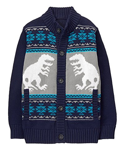 Gymboree Boys' Dino Hooded Sweater, L (Gymboree Boys Sweater)