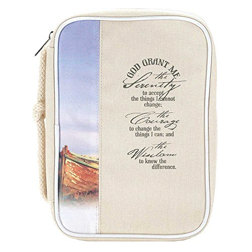 Sand Serenity Prayer 8 x 11 Reinforced Canvas Bible Cover Case with Handle by Dicksons