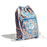 margaritaville beach bag - Margaritaville Womens Girls Medium Lightweight Printed Cinch Drawstring Nylon Bag Backpack Floral Blue