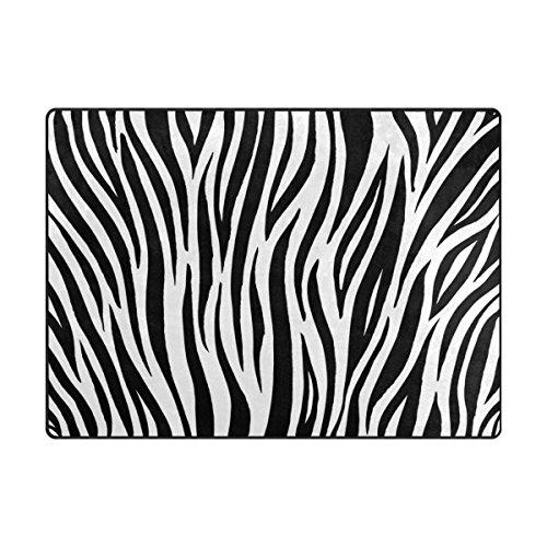 (Cooper girl Zebra Area Rug Mat Carpet 5'3