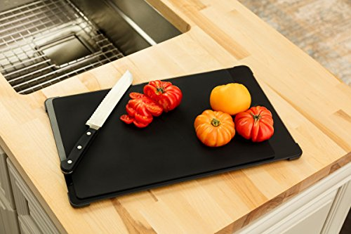 Franke PT-40S Pecera Series Glass Cutting Board with Self-Healing Mat .6 x 18.5 x 10.8 Black - - Amazon.com