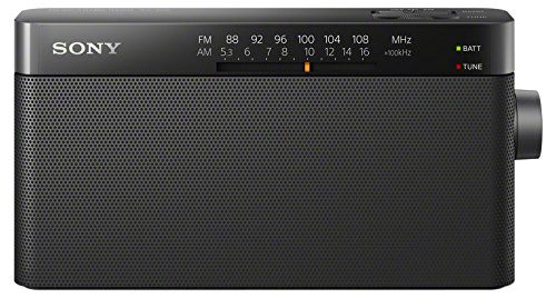 Sony ICF-306 Portable AM/FM Radio - Black