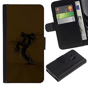 A-type (Resumen Espantapájaros) Colorida Impresión Funda Cuero Monedero Caja Bolsa Cubierta Caja Piel Card Slots Para Samsung Galaxy S3 MINI 8190 (NOT S3)