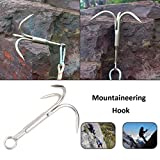 3 PCS Grappling Hook 3-Claw Stainless Steel