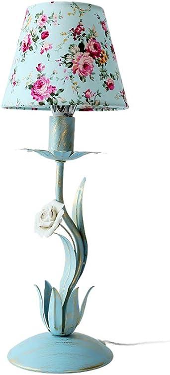 La tabla decorativa dormitorio de la lámpara de hierro Lámpara de ...
