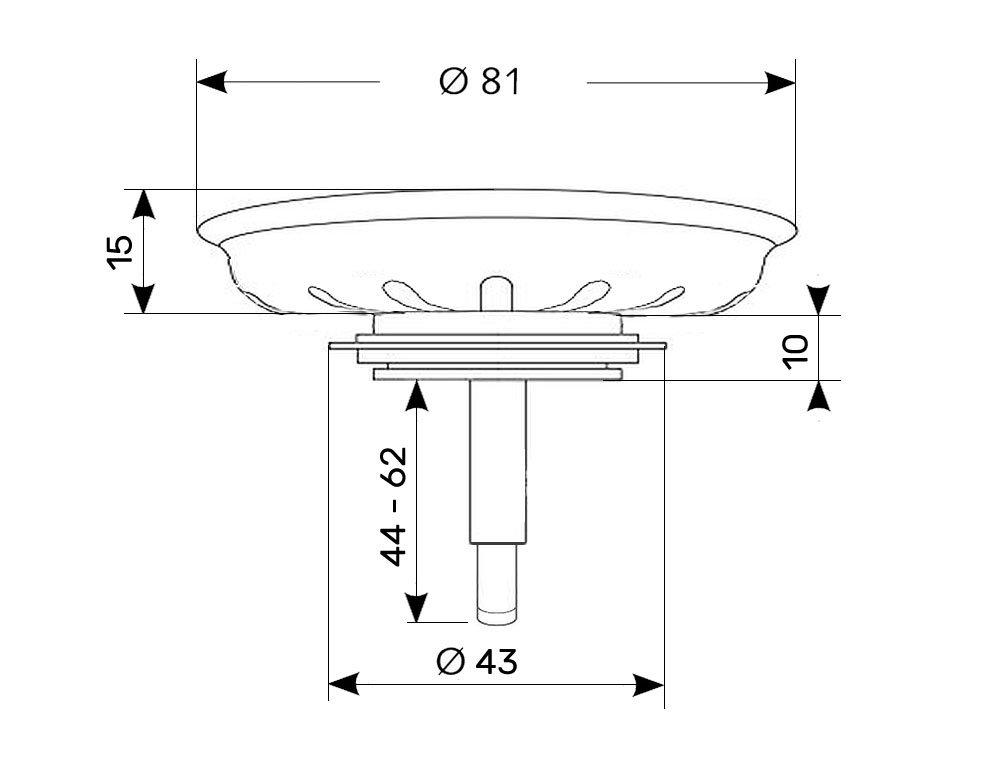 Universal Colador cesta Diámetro 81 mm Colador cesta ...