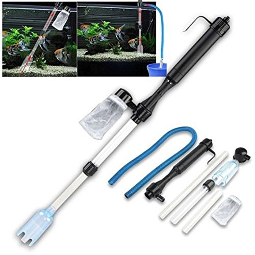 Battery-Powered Gravel Cleaner Aquarium Fish Tank Siphon Vacuum Water Change (Only ship to USA) (Gravel Vacuum For 10 Gallon Tank)