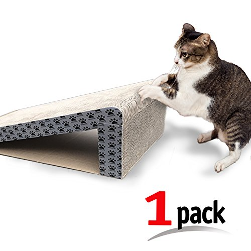 iPrimio Cat Scratcher Ramp - Foldable for Travel and Easy Storage - Great for Cats Playing Over, Laying, and Scratching - Patent Pending Design (1 Pack) ()