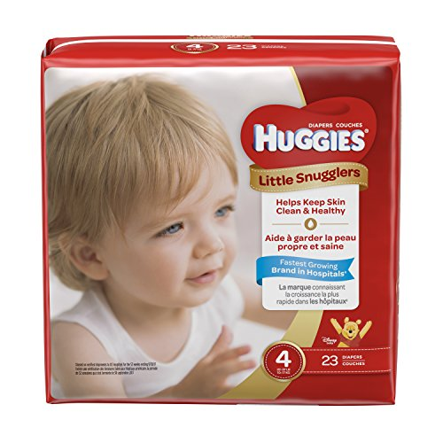 HUGGIES Little Snugglers Baby Diapers, Size 4, 23 Count, JUMBO PACK (Packaging May Vary)