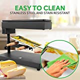 NutriChef Electric Raclette Cheese Melter-Swiss
