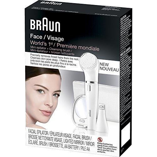 Braun Face 830 Women's Miniature Epilator, Electric Hair Removal, with Facial Cleansing Brush for Women (Beauty Edition) by Braun (Image #6)
