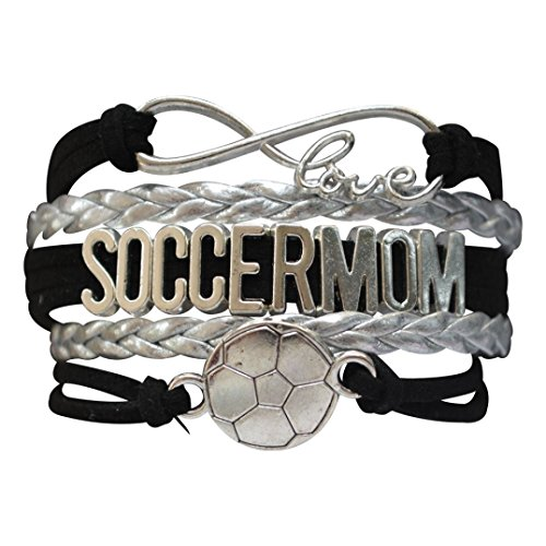 Soccer Mom Charm Infinity Love Bracelet, Soccer Moms Jewelry, Soccer Mom Gifts, Perfect Soccer Mom Gifts for Women (Soccer Mom Charm)