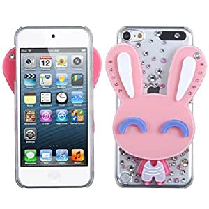 Snap on Cover Fits Apple iPod Touch 5 (5th Generation) Cartoon Rabbit Crystal 3D Mirror Diamond (Please carefully check your device model to order the correct version.)