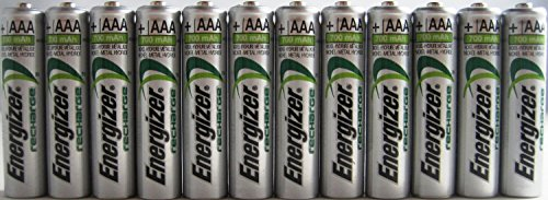 Pack of 20 Energizer NH12 800 mAh NiMH AAA Pre-Charged Rechargeable Battery - Bulk ()