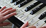 Keyboard or Piano Stickers up to 61 KEY SET for the black and white keys, LAMINATED, ULTRA THIN PSBW 61