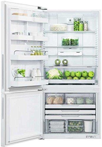 Fisher Paykel RF170BLPW6 Bottom Mount Counter Depth Refrigerator with 17.6 Cu. Ft. Total Capacity Left Hinged Door Door Storage and Pocket Handle in