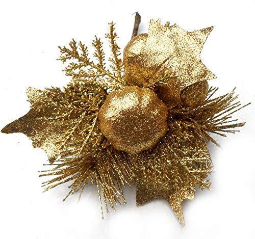 Homestreet - Pua con Purpurina para decoracion navidena, Coronas, centros de Mesa, Tartas y mas