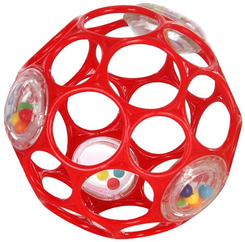 Rhino Toys Oball 4 81033 Activity Ball with Rattling Parts Colour B (Red)