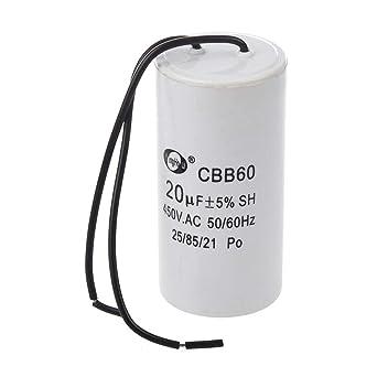 CBB60 Motor Start Capacitor 20MFD 20uF 450VAC 450V HVAC  for washers