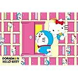 1000 piece jigsaw puzzle Doraemon × Hello Kitty anywhere door (49x72cm)