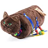 TwiddleCat Therapy Aid, Sensory Therapy - Alzheimer's, Dementia, Autism Therapy Product - Anxiety Relief Fidget Toy - Plush Cat - Chocolate Brown