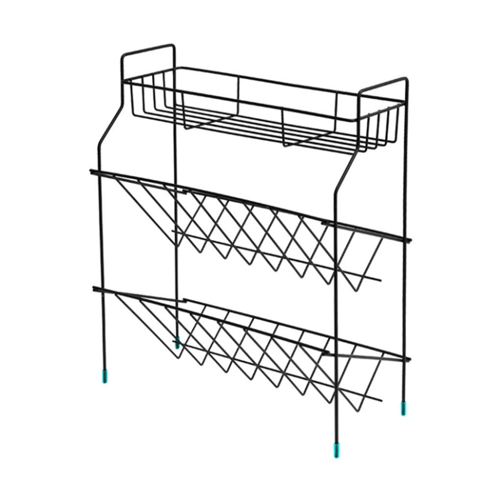 ASIERY Three-Tier Wrought Iron Kitchen Organizer Spice Holder countertop Floor Stand by ASIERY