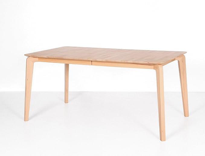 expendio hochwertiger Esstisch Linao A 140(185) x90 cm ausziehbar Kernbuche Massivholztisch Massivholztisch Designermöbel