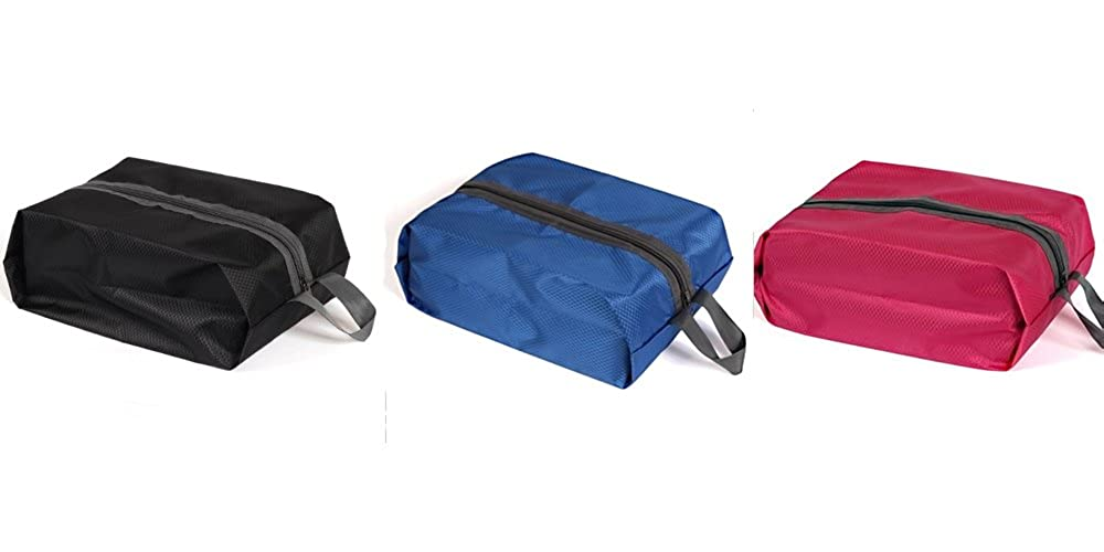 3 Pack Travel Shoe Bag, Nylon Shoe Bag, Waterproof Shoe Bag to store all Travelling Essentials